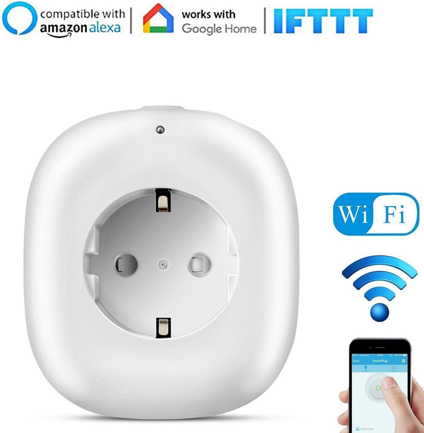 Enchufe Inteligente Inalámbrico con Toma USB, Belpink Enchufe wifi ...