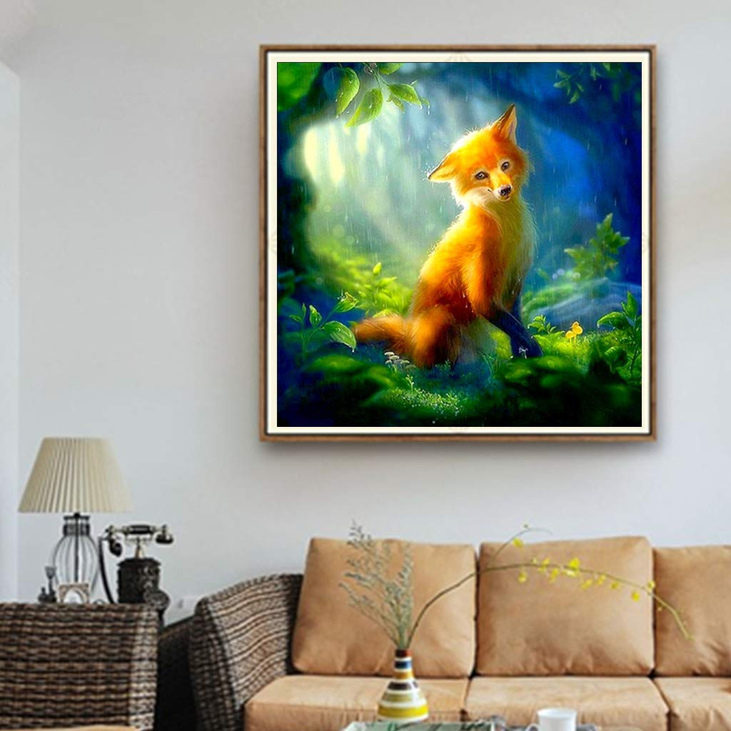 ❉❉UULIKE--Diamond Painting DIY Kits Full Drill Funny 5D Rhinestone Crystal Embroidery Colorful Shining Elk Pictures Multiple Patterns Pasted Cross Stitch Square Art Craft for Home Decor
