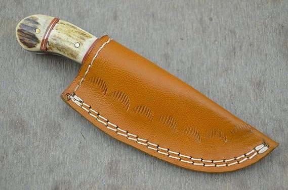 Leather-n-Dagger Cuchillo de Caza Profesional Hecho a Mano de ...