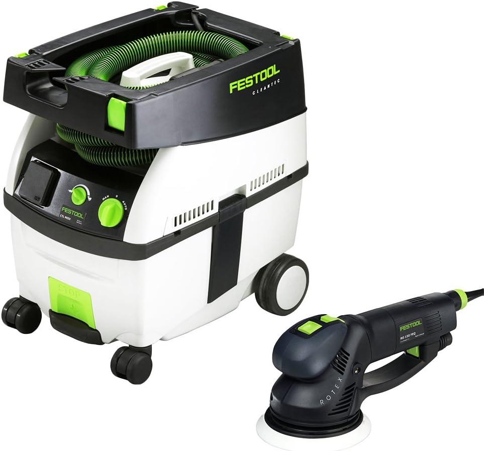 Festool PI571810 Rotex 6 in. Multi-Mode Sander with CT MIDI HEPA 3.3 Gallon Mobile Dust Extractor