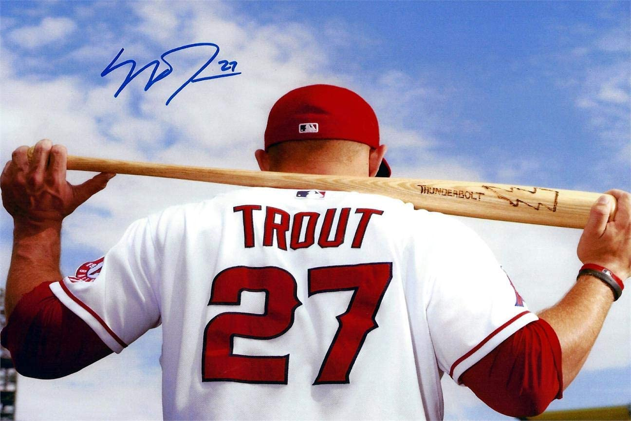 "ANGEL MIKE TROUT POSTER PRINT POP CULTURE BASEBALL SPORTS 24/""x36/"" NEW"