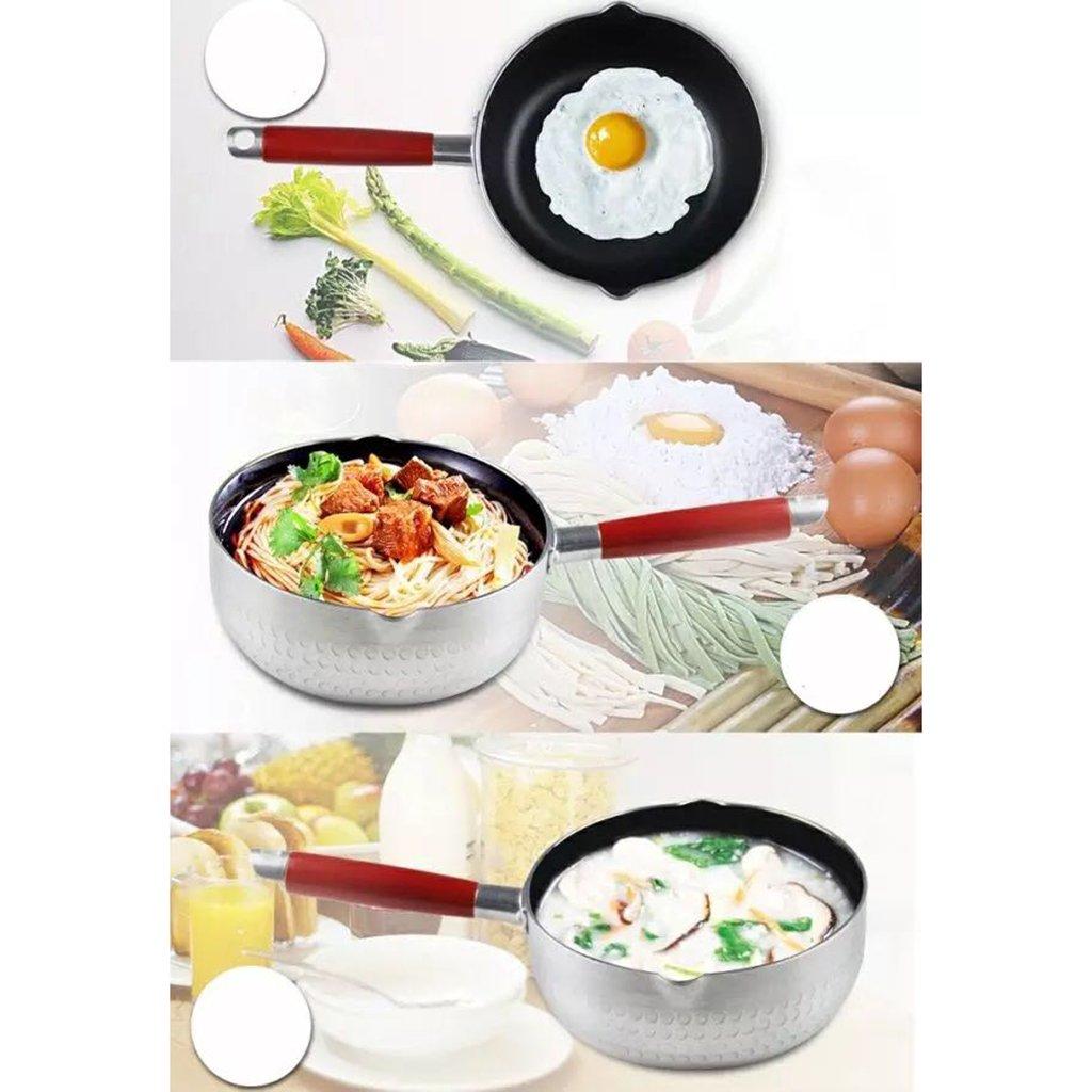 Homyl Olla de Cocina Portátil Accesoiros Calentador de Agua para Calentar Leche Cocinar Fideos - 20 cm: Amazon.es