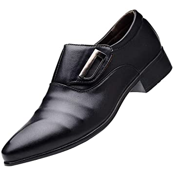 LuckyGirls Zapatillas de Cuero Negocio Trajes Casual Moderno Calzado Zapatos Bambas Zapatos de Noche Boda de Las Hombres: Amazon.es: Deportes y aire libre