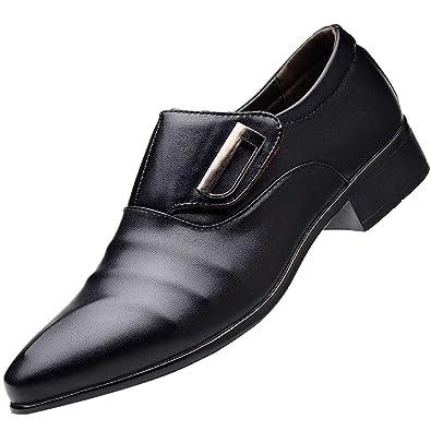 0da009f30dd6e7 Amazon.com  Men Classic Business Leather Shoes Casual Modern Pointed Toe  Shoes Male Suit Shoes Black  Shoes