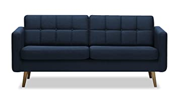 Sofa 3sitzer Brest, Skandinavischer Stil (Dunkelblau   Malmo 81)