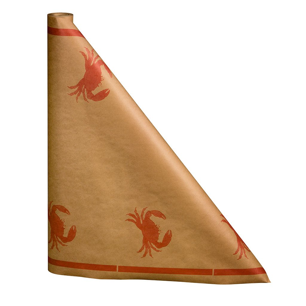 Crab Paper Table Cover, 300 ft. long x 40'' wide roll