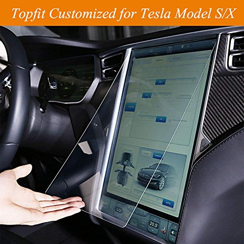 Topfit Tempered Glass Touch Screen Protector for Tesla Model S and Model X by Topfit