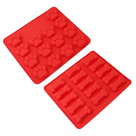 Pingenaneer Juego de 2 moldes de silicona para hornear cubitos de hielo para tartas, chocolate
