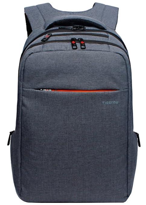 yacn Fashion ligero Business ordenador portátil mochila para š cfit de hasta 15,6 portátil, color Grey Blue 39,62 cm: Amazon.es: Oficina y papelería