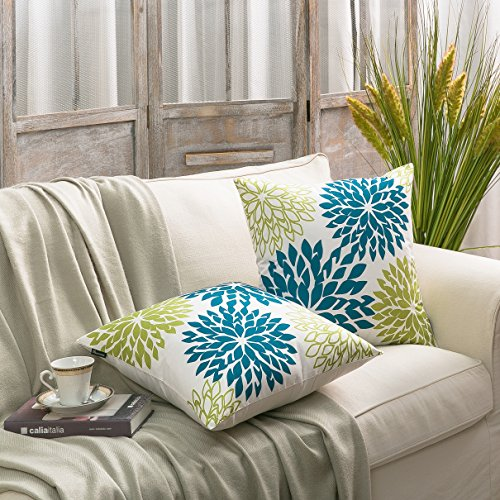 PHANTOSCOPE Set of 2 New Living Dahlia Series Decorative Throw Pillow Cushion Cover 18