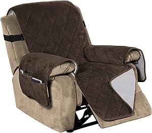 Recliner Covers Velvet Slip Resistant Recliner Sofa Slipcover Seat Width Up to 28