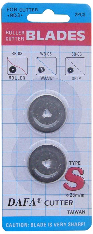DAFA 2-Piece 28 mm Rotary Cutter Replacement Blade, Silver 28mm dafa blades