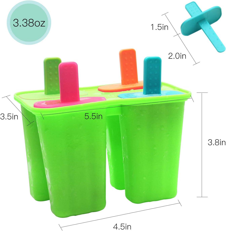 MAGT 8 Cavity Wiederverwendbare Eismaschinen Form Dickes Material Siliziumformen Neuartige Eisw/ürfelschale mit Eis am Stiel Formen Eisform