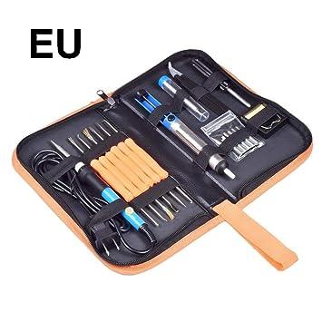 Clube.t Pistola de Silicona Kit de Plancha eléctrica 110V / 220V907, Maleta 7 en 1 60w Temperatura Ajustable Soldador, Soldadura (Bolsa de OPP): Amazon.es: ...
