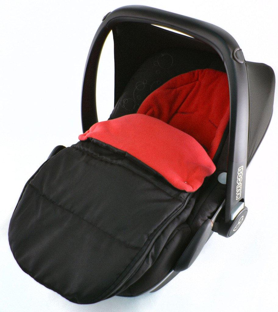 Chancelière Siège auto/Cosy orteils Compatible avec ABC Design nouveau-né de siège de voiture Rouge feu For-Your-Little-One