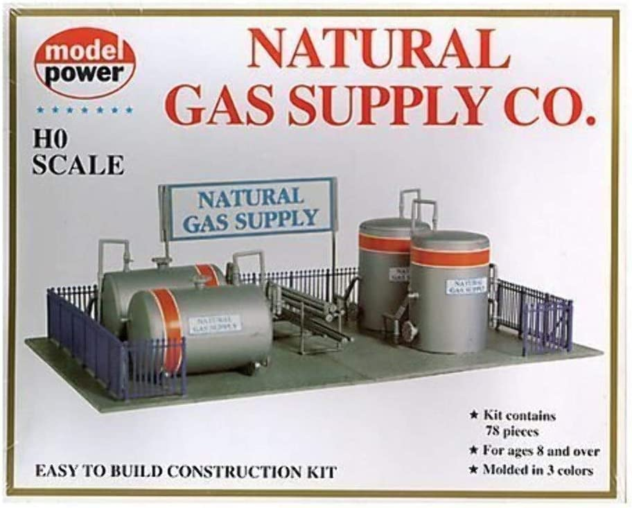 Model Power HO Scale Building Kit Natural Gas Supply Co