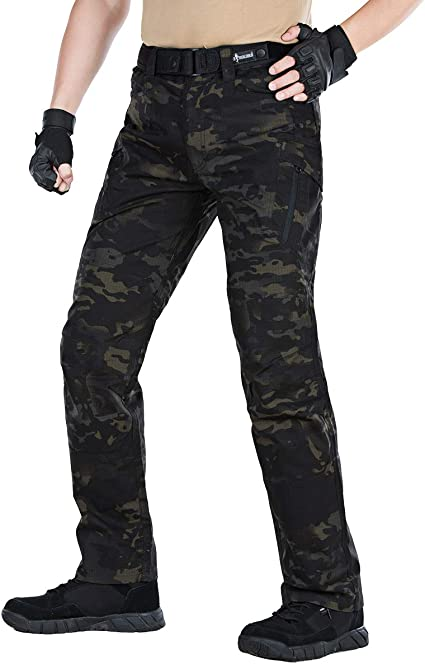 Mens Army Tactical Pants Breathable Water Repellent Trousers Outdoor Casual Pant