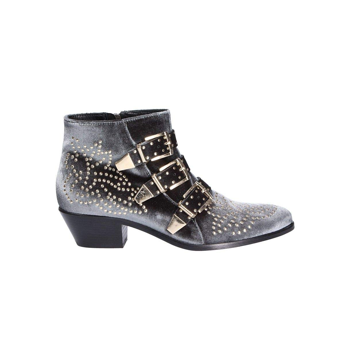 - LEMARÉ Women's 0351GREY Grey Leather Ankle Boots