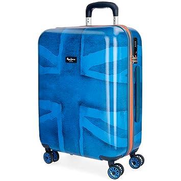Pepe Jeans Fabio 6098761 Equipaje de Mano, 55 cm, 38 litros, Azul: Amazon.es: Equipaje