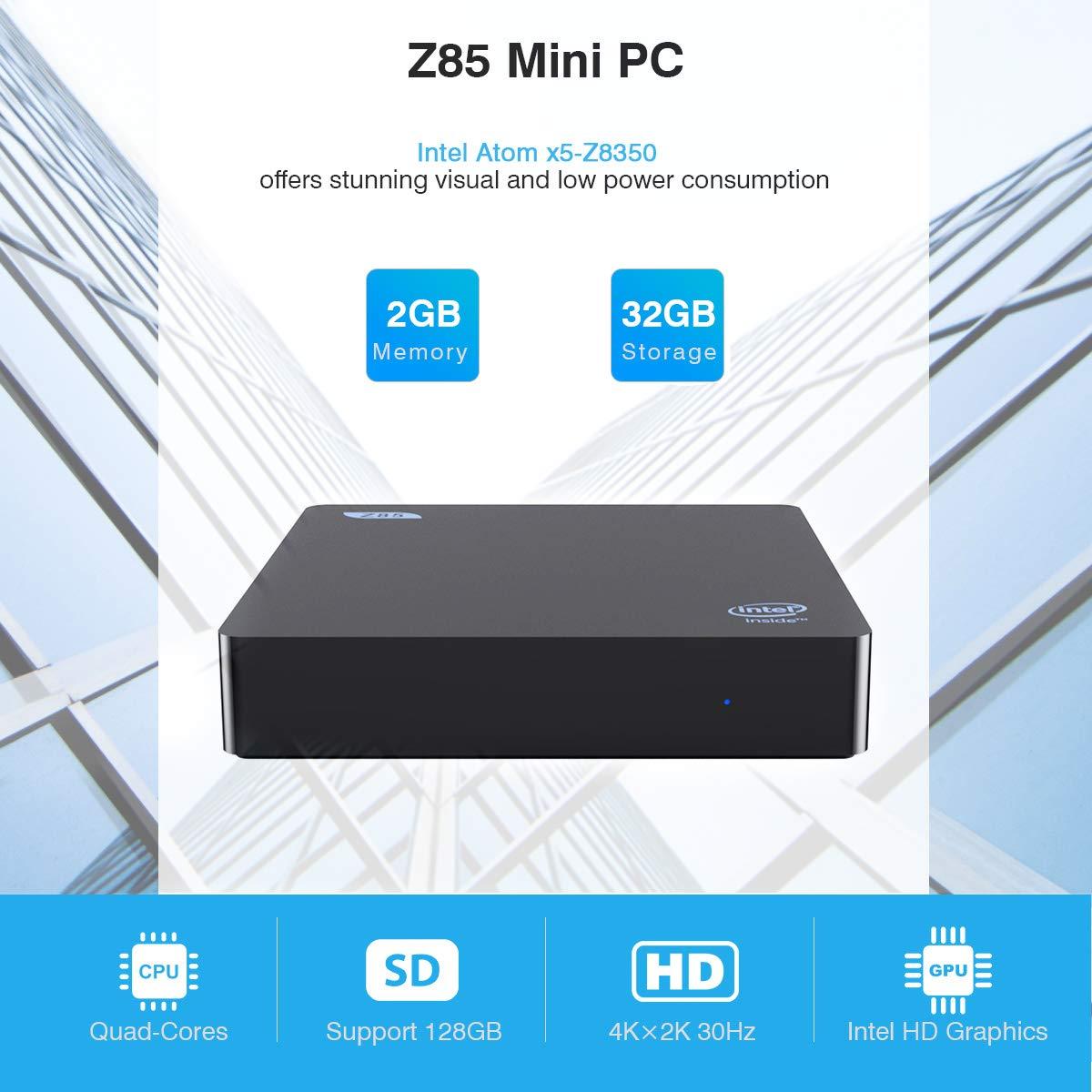 Beelink BT3Pro Mini PC Multi Media Desktop PC 4GB+64GB HD H.265 Intel Atom x5-Z8350 Prozessor / 4K / 1000Mbps LAN/HDMI/VGA / 2.4G+5.8G Dual WiFi