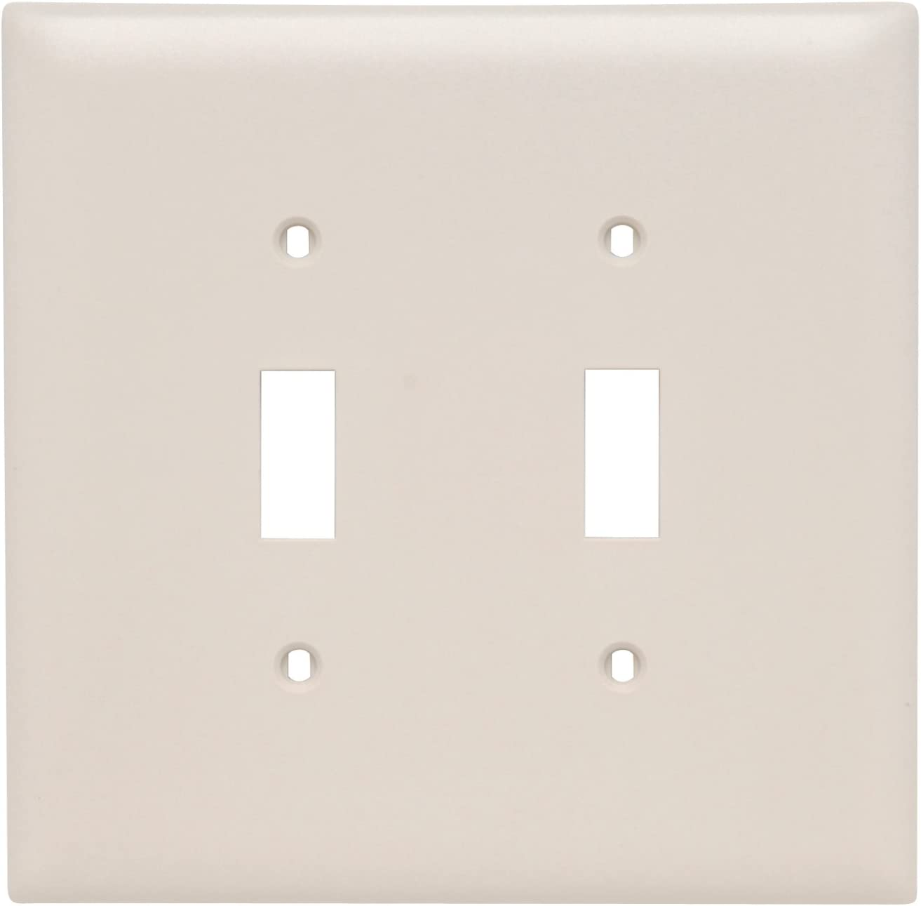 Pass Seymour Spo2wu Plastic Wall Plate Jumbo Two Gang Two Toggle Without Line White