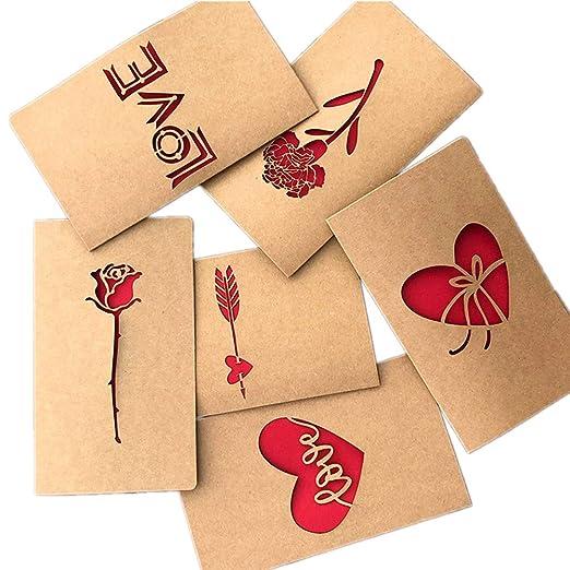Tarjeta de Felicitación,Hechas a mano de bricolaje Tarjetas de papel de Kraft en blanco dentro del paquete y sobres multipack para el presente de ...