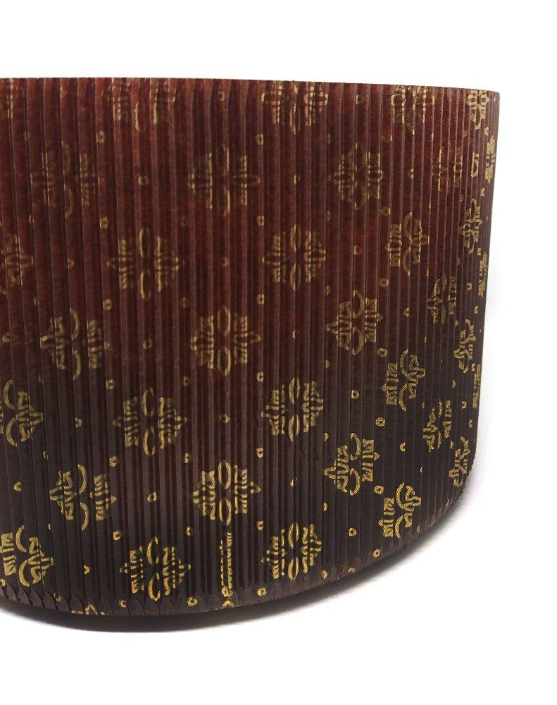 Dreams Party - Molde alto y ondulado para Panettone - 5 unidades - molde rígido desechable de papel de horno - Ideal para pan canasta y panettone ...