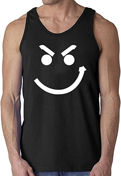 Metal Emoticon Black Juniors Soft Tank Top