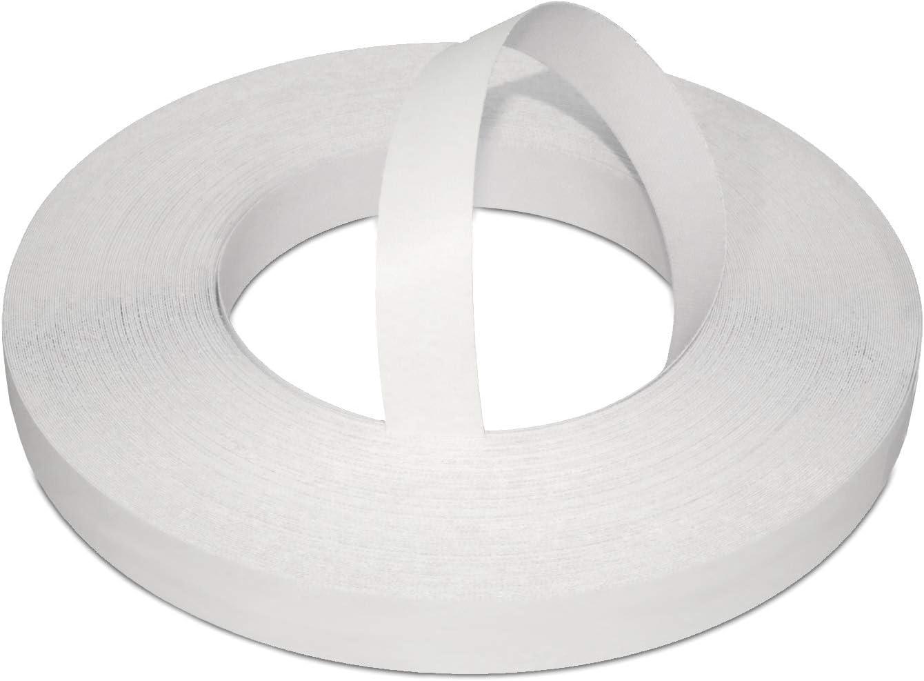 22mm Mélamine Blanc Nacre Bande De Placage Pré Collée 50m Rouleau Commercial à Repasser Pour Une Application Facile