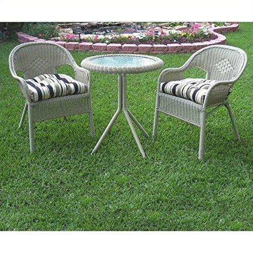 Blazing Needles Set of 2 Outdoor Patio Bistro Cushions - Tropique Raven
