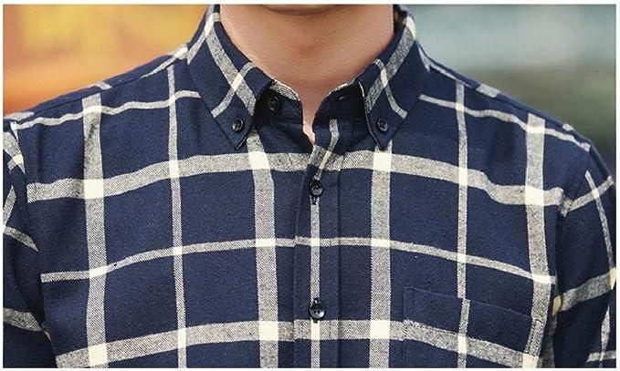 GloryA Mens Cotton Long Sleeve Slim Fit Juniors Button Down Casual Business Shirts