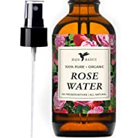 Rose Water Spray 100% Pure, Natural Toner by Baja Basics For Skin, Hair and Aromatherapy...