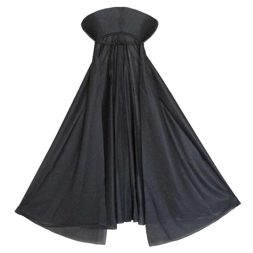 SeasonsTrading Child Black Vampire Cape with Collar ~ Halloween Kids Black Cape