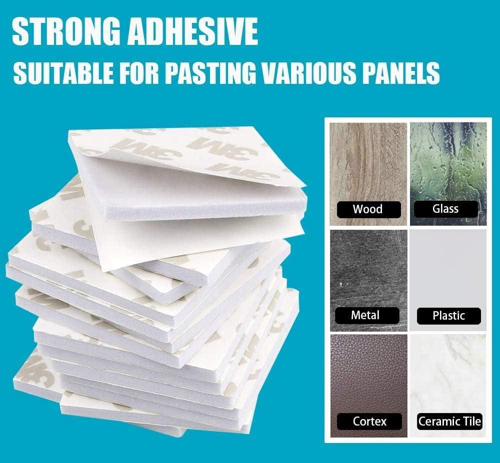 Cuadradas Y Redondas Almohadillas Adhesivas EVA 100 Piezas de Almohadilla de Espuma Adhesiva de Doble Cara Cinta Adhesiva Fuerte de Montaje