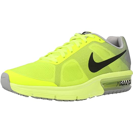 amazon com nike air max sequent gs 7y volt black wolf grey