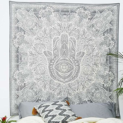 (Zeafeel Light Weight Polyester Fabric Hippie Tapestry Wall Decor for Bedroom/Living Room/Dorm Accessories (60