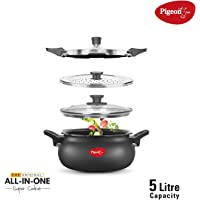 Pigeon by Stovekraft All in One Hard Anodized Alluminium Super Cooker