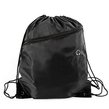 ba0764b3519f SurePromise One Stop Solution for Sourcing Black Waterproof Drawstring  RuckSack Bag Sack Backpack Swim School Shoes