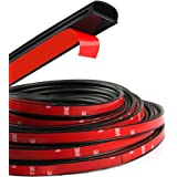 HOTSYSTEM D-Shape Door Rubber Seal Strip Weatherstrip 3M Self Adhesive Hollow for Car Truck Motor Door Cover Trunk (Black, 13.12 feet)