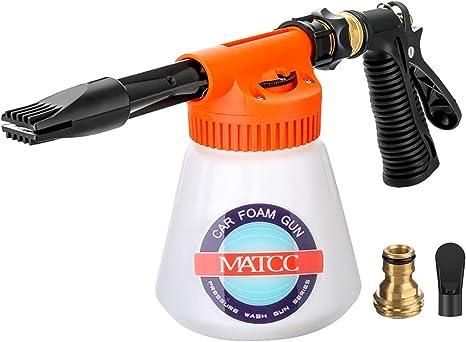 Car Foam Gun >> Matcc Car Foam Gun Foam Blaster And Adjustable Car Wash Sprayer With Adjustment Ratio Dial Foam Sprayer Fit Garden Hose For Car Home Cleaning And