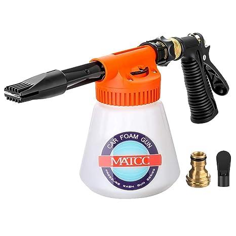 Foam Spray Car Wash >> Matcc Car Foam Gun Foam Blaster And Adjustable Car Wash Sprayer With Adjustment Ratio Dial Foam Sprayer Fit Garden Hose For Car Home Cleaning And