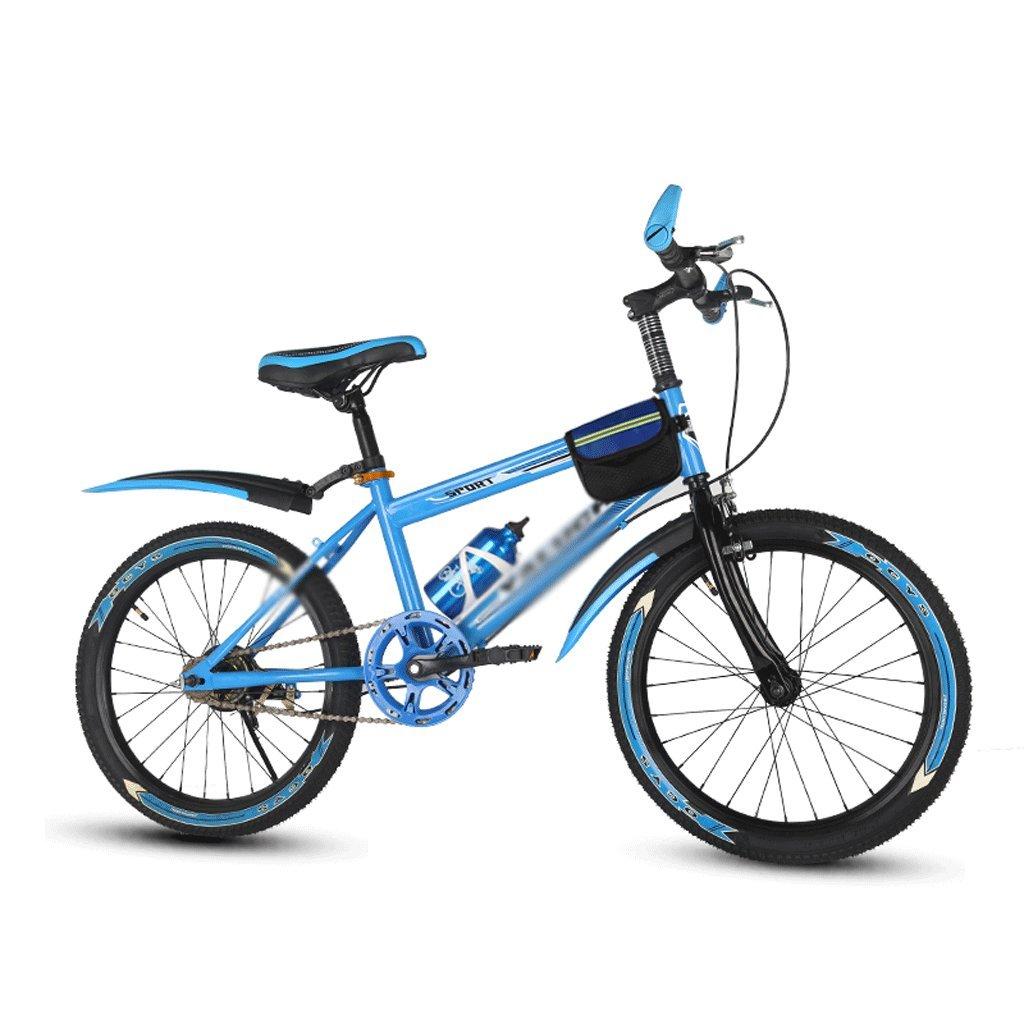 自転車 子供のマウンテンバイクブルースピードシフトパッケージ18/20/22インチ男性と女性の小中学生 (サイズ さいず : 18 inch) B07DZSLYG8 18 inch 18 inch