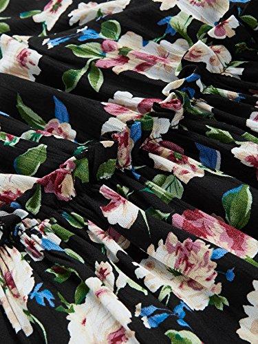 Diviso Dell'annata vita Multicolore Delle Milumia Della Tie Stampa Vestito Boho Donne Maxi BFS4Fx