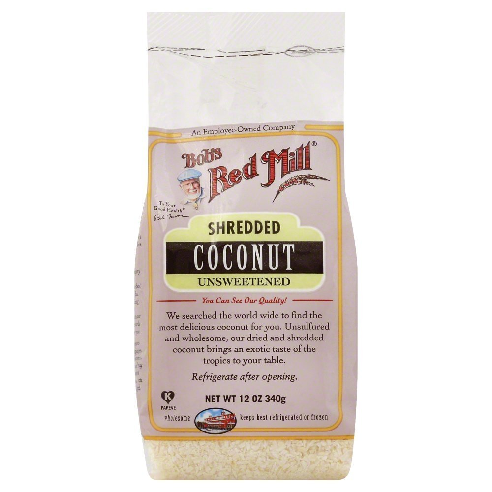 Bobs Red Mill Unsweetened Shredded coconut 12.0 OZ(Pack of 3)