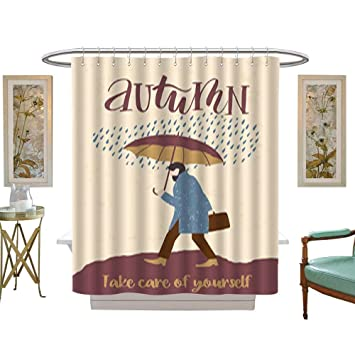Amazon Com Iuvolux Bathroom Shower Autumn Templates Vector Design