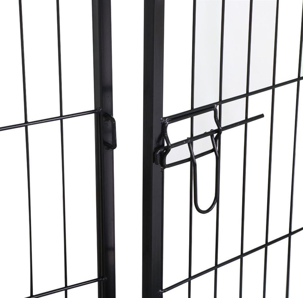 Yaheetech 32//16 Panels 24-inch Dog Playpen Heavy Duty Metal Foldable Pets Playpen Dog Exercise Pen Barrier Kennel with Door for Cat Duck Chicken Puppy Fence Outdoor Indoor Black
