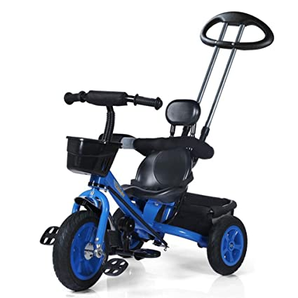Niños Triciclos Bicicleta 1-3-5 años Cochecito de bebé Titanio Rueda vacía Niños