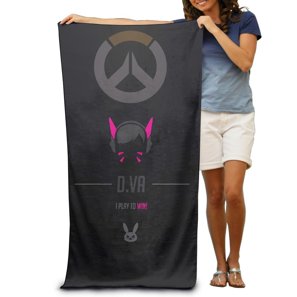 Bieshabi Overwatch D.Va Beach Towel For Adults