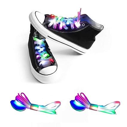 Shoe Care & Repair Led Flashing Light Multi Color Party Dancing Hip-Hop Lithium Battery Shoe Laces