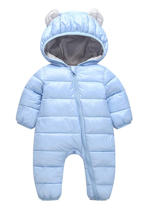 bba142587 Newborn Toddler Baby Clothes Girls Boys Romper Winter Jumpsuit Thicken  Cotton Snowsuit One Piece Blue 9-12 Months: Amazon.ca: Luggage & Bags